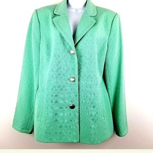 Peck and Peck Womens Mint Green 16